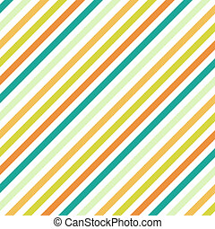 Seamless diagonal stripes in shades of golds, oranges, and teals on white background