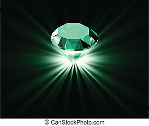 Bright diamond. Vector
