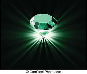 Bright diamond. Vector