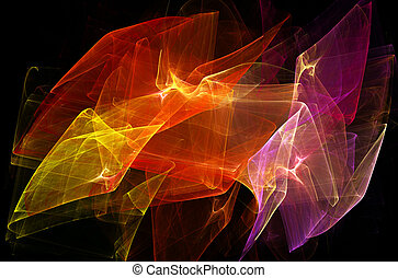 Bright dynamic abstract background