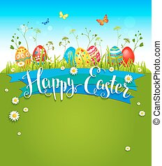 Bright Easter background