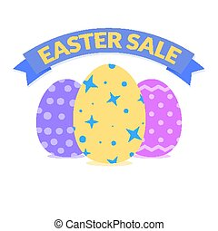 Bright easter sale banner