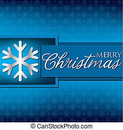 Bright elegant ornament Christmas card in vector format.