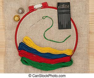 Bright embroidery accessories
