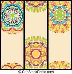Bright Ethnic Patterns at Set