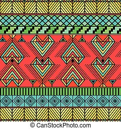 Bright pattern in enicheskom style can be used as a seamless pattern or background
