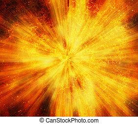 bright explosion fire speed burst background