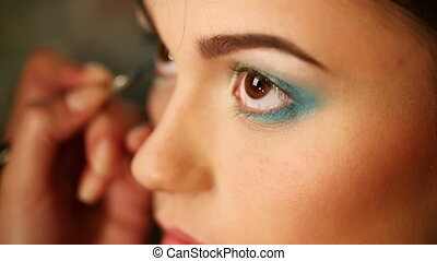 Bright eye make-up