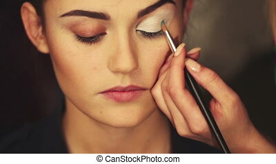 Bright eye make-up day