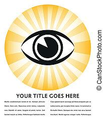Bright eye sunburst design. - Bright eye sunburst design...