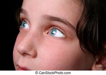 Bright Eyes of a Hopeful Child