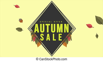 Bright fall leaves autumn sale animation