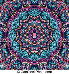 bright festive abstract vector seamless pattern - Tribal art...