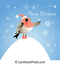 bright festive Christmas card with
