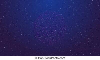 Bright firework burst on the sky