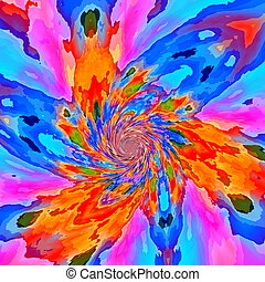Bright flaky fractal background. - Bright flaky fractal...