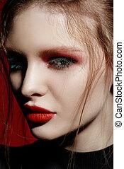 bright flashy make-up