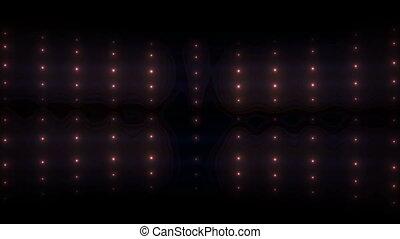 Bright flood lights glow