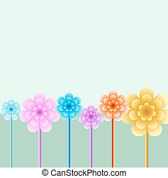 Bright floral background illustration.