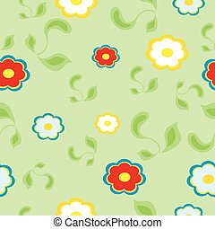 Bright floral seamless texture, endless pattern with flowers.