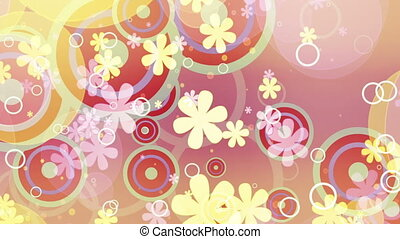 Bright Flowers Retro Loop Two