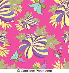 bright flowers seamless vector pattern for your design