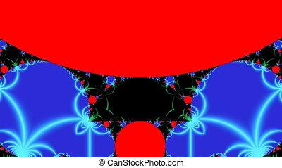 Bright fractal pattern
