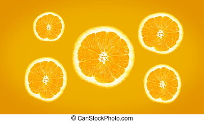 Bright Fresh Juicy Orange Background. 4k - Nice oranges for...