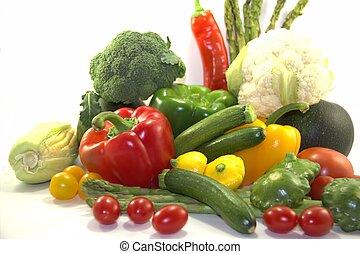 Bright fresh vegetables