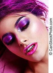 bright fuchsia make-up