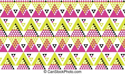 bright fun geometry seamless vector pattern for surface design. exotic geometric fabric sample. repeatable motif for wrapping paper, summer decor, party invitation