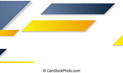 Bright geometric corporate motion background