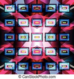 bright geometric pattern on a dark background