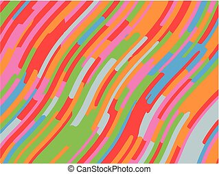 Bright geometric pattern with slanted waves, stripes. Vector...