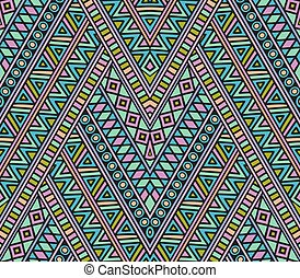 Bright geometric seamless pattern