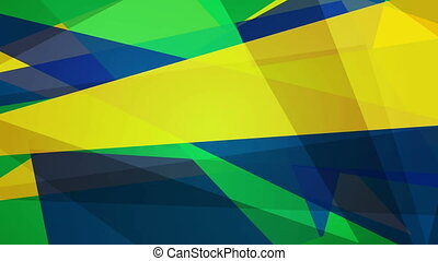 Bright geometric shapes motion design, Brazilian colors