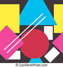 Bright geometric shapes