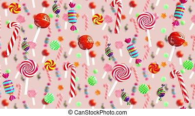Bright glamour sweet juicy candies lollipop chupa chups...