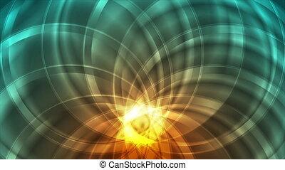 Bright glossy circular pattern abstract motion design. ...