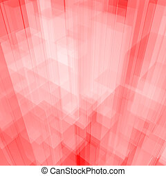 Bright Glowing Pink Glass Background With Artistic Cubes Or...