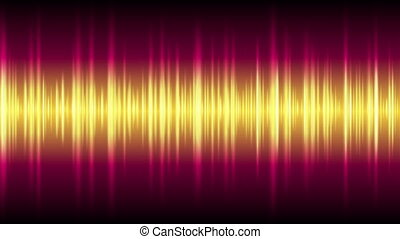 Bright glowing tech waveform equalizer video animation