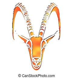 Bright goat portrait, zodiac Capricorn sign