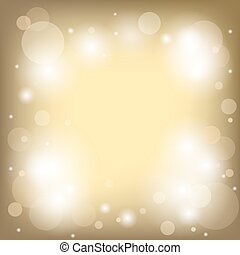 bright gold background with bokeh - vector