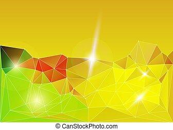 bright gold diamond lowpoly vector