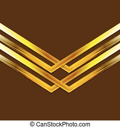 Bright golden arrow shapes background