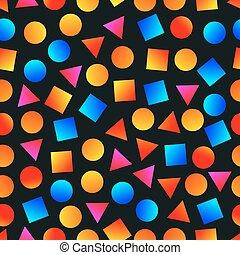 Bright gradient geometric shapes