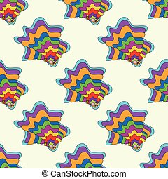 bright graffiti geometric seamless pattern grunge effect