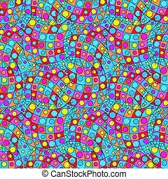 bright graffiti geometric seamless pattern grunge effect