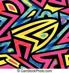 bright graffiti seamless pattern