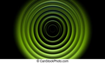 Bright green abstract circles video animation